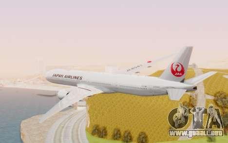 Boeing 777-300ER Japan Airlines v2 para la visión correcta GTA San Andreas