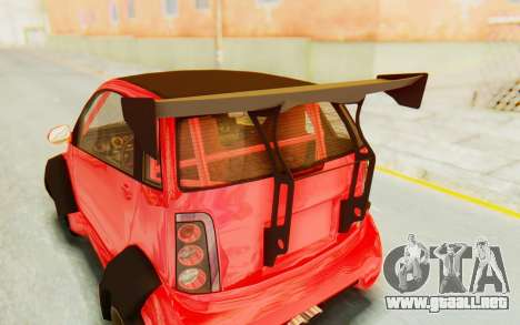 GTA 5 Benefactor Panto Custom para GTA San Andreas vista hacia atrás