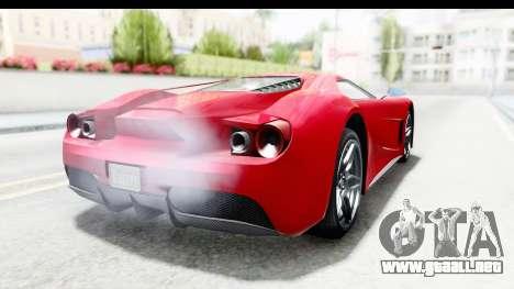 GTA 5 Vapid FMJ IVF para GTA San Andreas vista posterior izquierda