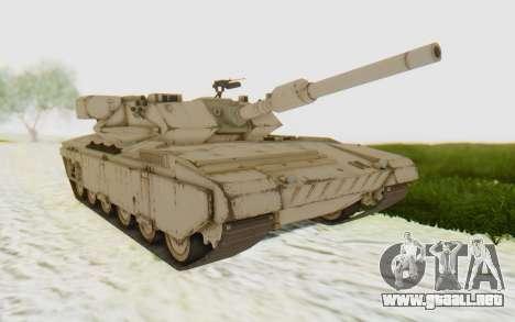 MGSV Phantom Pain M84A MAGLOADER para GTA San Andreas vista posterior izquierda