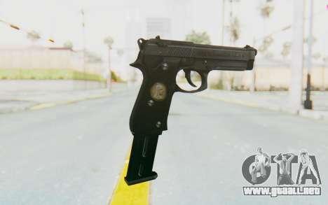 Tariq Iraqi Pistol Back v1 Black Long Ammo para GTA San Andreas segunda pantalla