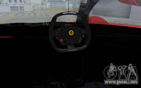 Ferrari F80 Concept 2015 Beta para visión interna GTA San Andreas