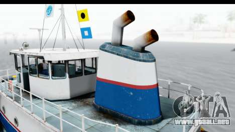 GTA 5 Buckingham Tug Boat v1 IVF para GTA San Andreas vista hacia atrás