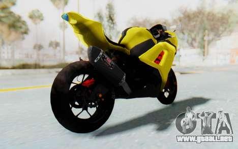 Kawasaki Ninja 250 Abs Streetrace v2 para GTA San Andreas vista posterior izquierda