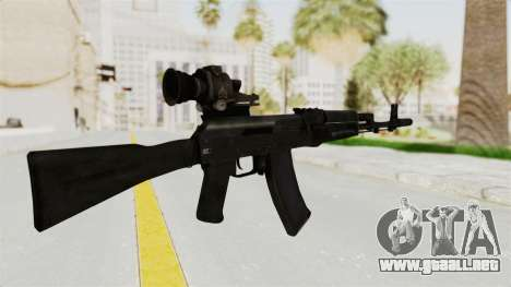 AK-74M v4 para GTA San Andreas segunda pantalla