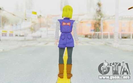 Dragon Ball Xenoverse Android 18 Jacket para GTA San Andreas tercera pantalla