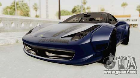 Ferrari 458 VPM Crew para la visión correcta GTA San Andreas