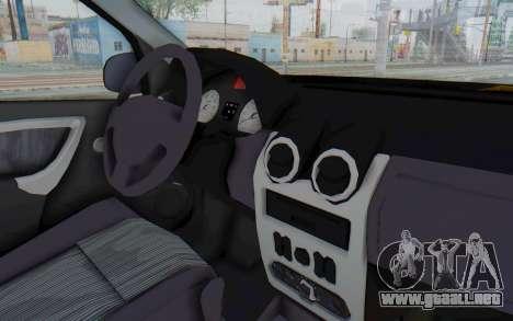 Dacia Logan Facelift Ambulanta para visión interna GTA San Andreas
