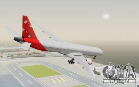 Boeing 777-300ER Virgin Australia v1 HD para GTA San Andreas left