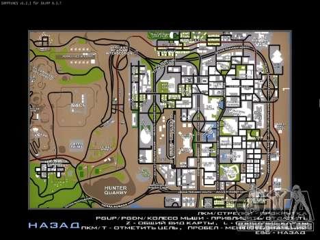 Mapa de SAMP para GTA San Andreas tercera pantalla