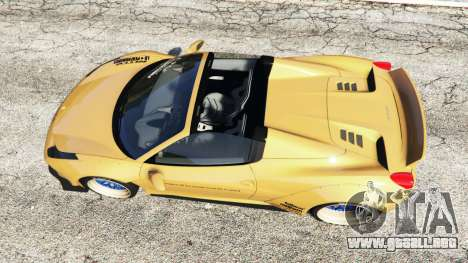GTA 5 Ferrari 458 Spider [Liberty Walk] vista trasera