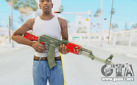 CS:GO - AK-47 Laminate Red para GTA San Andreas tercera pantalla