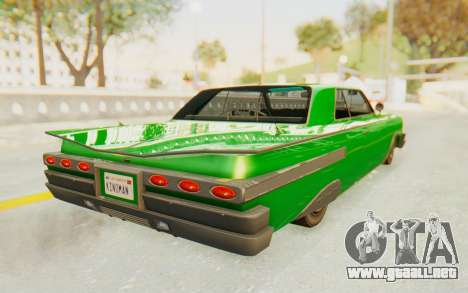 GTA 5 Declasse Voodoo SA Lights para GTA San Andreas left