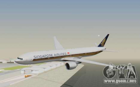 Boeing 777-300ER Singapore Airlines v1 para GTA San Andreas