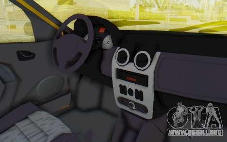 Dacia Logan Taxi para visión interna GTA San Andreas