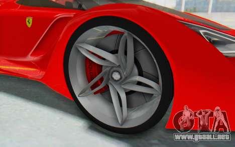 Ferrari F80 Concept 2015 Beta para GTA San Andreas vista hacia atrás