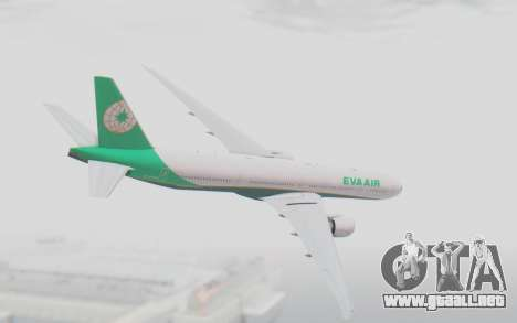 Boeing 777-300ER Eva Air v3 para GTA San Andreas left