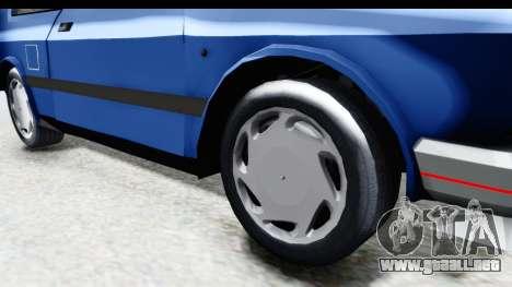 Zastava Yugo Koral UK para GTA San Andreas vista hacia atrás