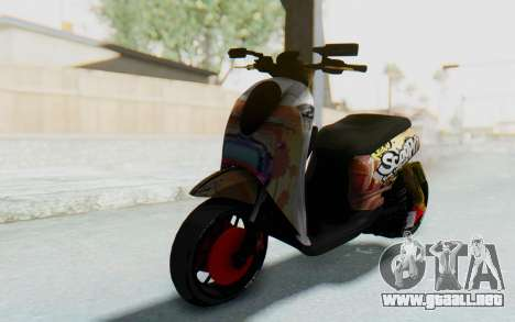 Honda Scoopyi Modified para GTA San Andreas vista posterior izquierda