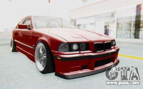 BMW M3 E36 2.5 TDS para GTA San Andreas vista hacia atrás