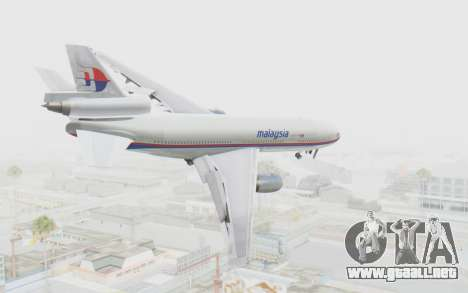 DC-10-30 Malaysia Airlines (Old Livery) para GTA San Andreas left