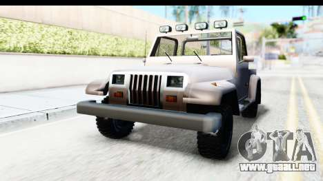 Mesa MAXimum 4x4 para la visión correcta GTA San Andreas