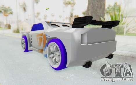 Hot Wheels AcceleRacers 3 para GTA San Andreas vista posterior izquierda