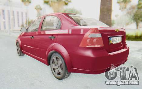 Chevrolet Aveo 2007 para GTA San Andreas vista posterior izquierda