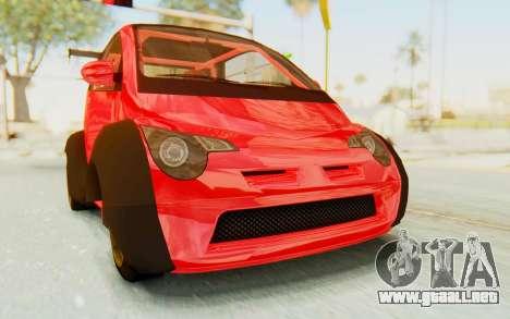 GTA 5 Benefactor Panto Custom para GTA San Andreas vista posterior izquierda