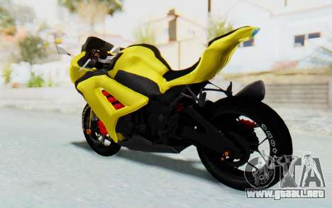 Kawasaki Ninja 250 Abs Streetrace v2 para GTA San Andreas left