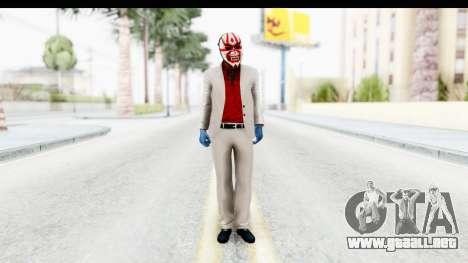 Payday 2 - Jiro with Mask para GTA San Andreas segunda pantalla
