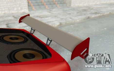 Elegy GT v1 para la vista superior GTA San Andreas