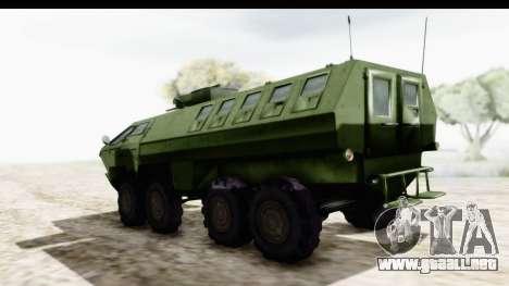 Lazar Serbian Armored Vehicle para GTA San Andreas vista posterior izquierda