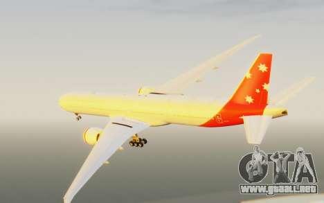 Boeing 777-300ER Virgin Australia v1 HD para la visión correcta GTA San Andreas