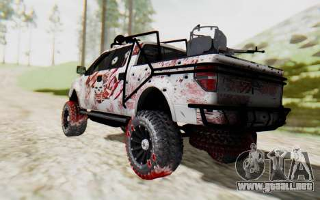 Ford F-150 ROAD Zombie para GTA San Andreas left