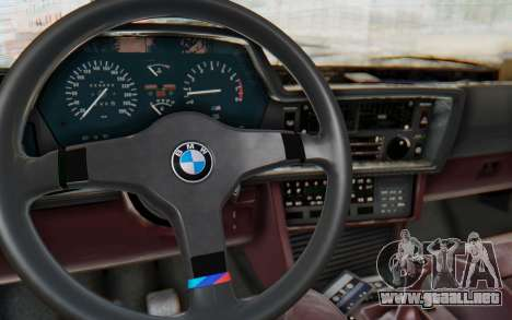 BMW M635 CSi (E24) 1984 IVF PJ1 para visión interna GTA San Andreas