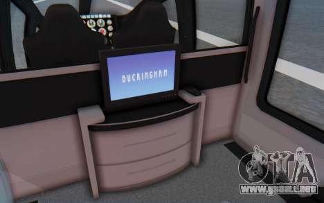 GTA 5 Buckingham Volatus v1 IVF para GTA San Andreas vista hacia atrás