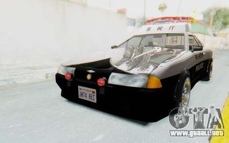 Elegy Japanese Police para GTA San Andreas vista posterior izquierda