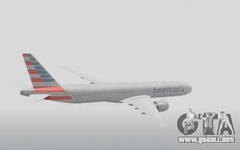 Boeing 777-300ER American Airlines N727AN para la visión correcta GTA San Andreas