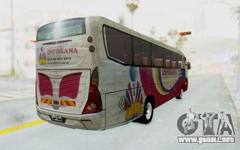 Marcopolo Inforana Bus para GTA San Andreas vista posterior izquierda