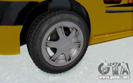 Dacia Logan Taxi para GTA San Andreas vista hacia atrás