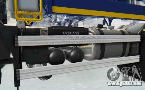 Volvo FMX 6x4 Dumper v1.0 Color para visión interna GTA San Andreas