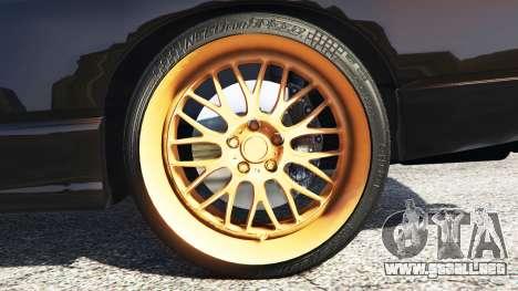 GTA 5 Nissan 180SX Type-X v0.5 vista lateral trasera derecha