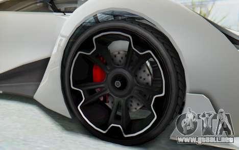 GTA 5 Grotti Prototipo v2 para GTA San Andreas vista hacia atrás