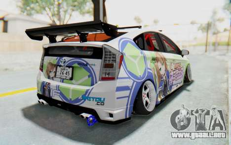 Toyota Prius Hybrid 2011 Hellaflush IF Itasha para GTA San Andreas left
