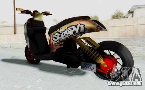 Honda Scoopyi Modified para GTA San Andreas left