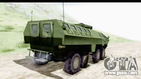 Lazar Serbian Armored Vehicle para GTA San Andreas left