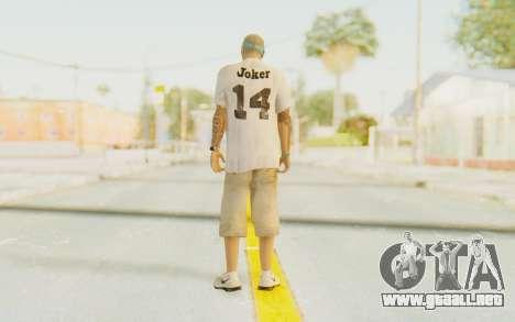 The Joker Skin para GTA San Andreas tercera pantalla