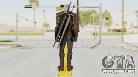 The Witcher 3: Wild Hunt - Geralt of Rivia para GTA San Andreas tercera pantalla