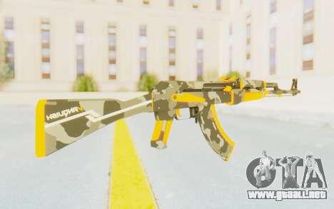 CS:GO - AK-47 Vanquish para GTA San Andreas tercera pantalla